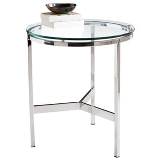 Sunpan 'Ikon' Flato Polished Steel End Table