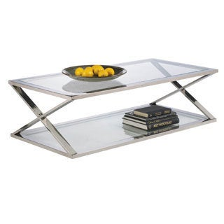 Sunpan 'Ikon' Gotham Polished Steel Coffee Table