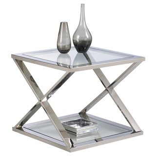 Sunpan 'Ikon' Gotham Polished Steel End Table