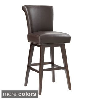 Sunpan '5West' Hamlet Bonded Leather Swivel Bar Stool