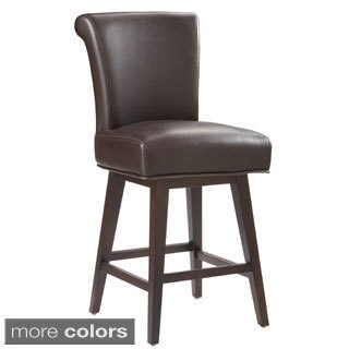 "Sunpan '5West' Hamlet Bonded Leather Swivel 26"" Counter Stool"