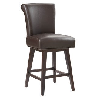Sunpan '5West' Hamlet Bonded Leather Swivel Counter Stool