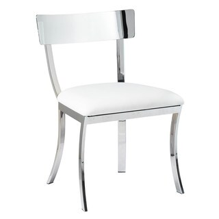 Sunpan 'Ikon' Maiden White Stainless Steel Dining Chair (Set of 2)