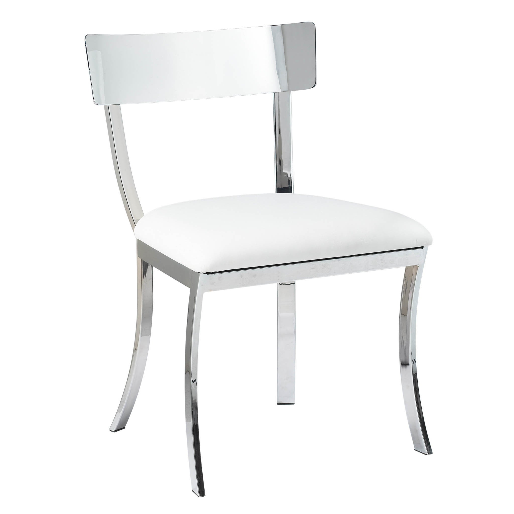 finest selection e2308 11985 Sunpan 'Ikon' Maiden White Stainless Steel Dining Chair (Set of 2) - Medium