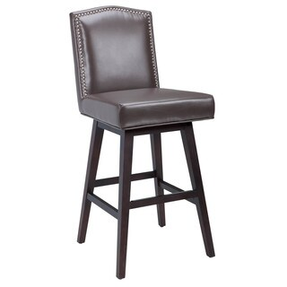 Sunpan '5West' Maison Bonded Leather Swivel Bar Stool