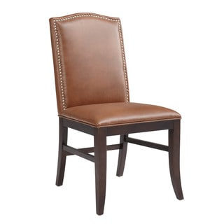Sunpan '5West' Maison Cognac Bonded Leather Dining Chair (Set of 2)