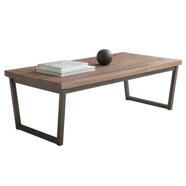 Large Distressed Wood Coffee Table: Shop Sunpan Porto Distressed Coffee Table