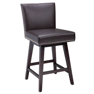 "Sunpan '5West' Vintage Bonded Leather Swivel 26"" Counter Stool"