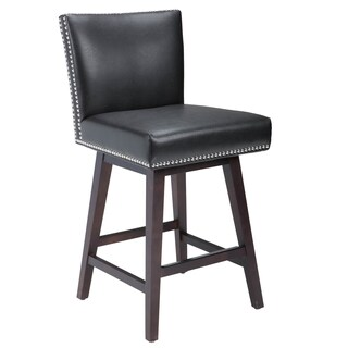 Oliver & James Grayson Bonded Leather 26-inch Swivel Counter Stool (3 options available)
