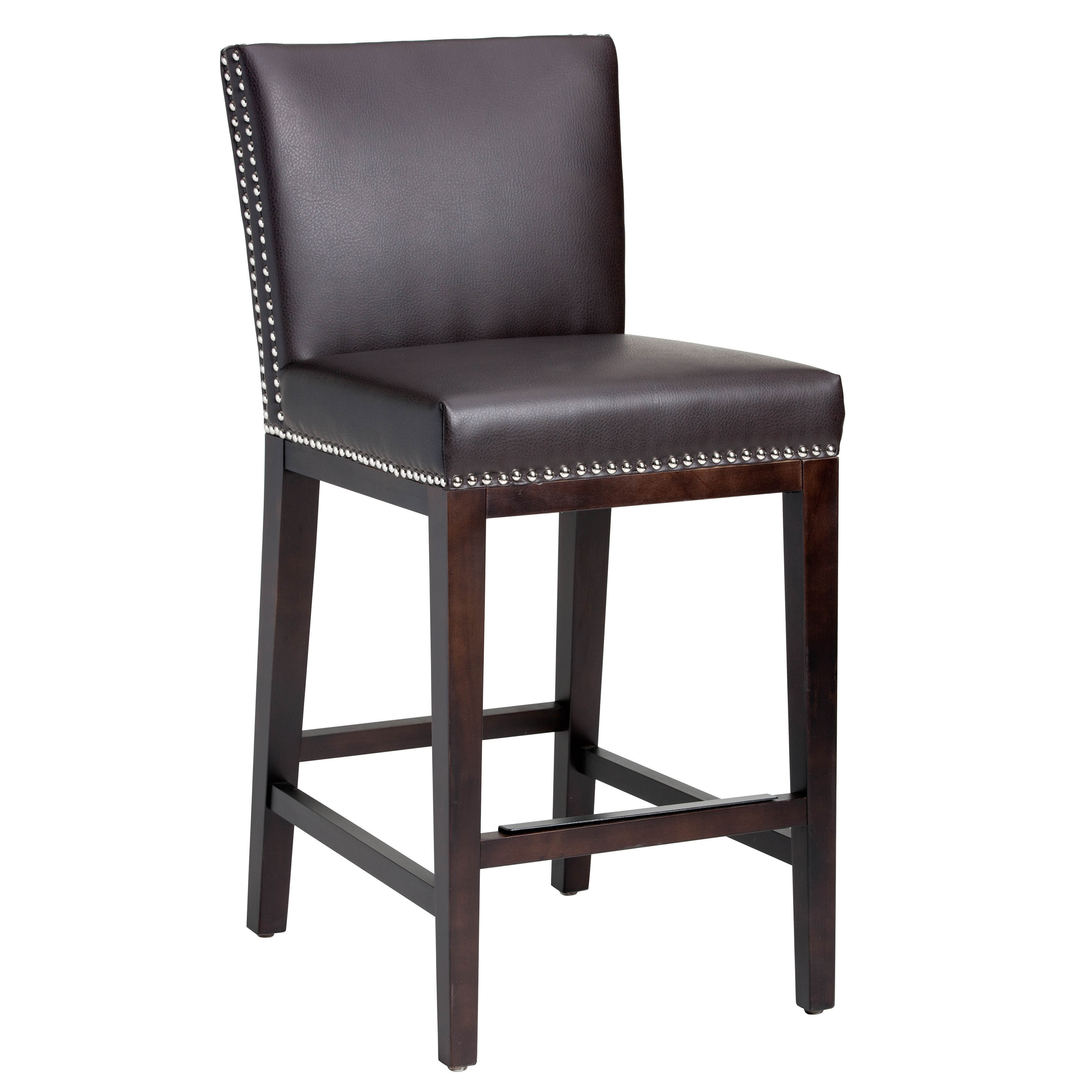 Oliver & James Grayson Bonded Leather 26-inch Counter Stool