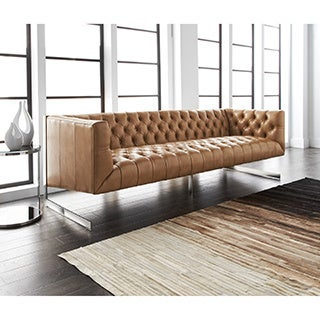 Sunpan 'Club' Viper Bonded Leather Sofa