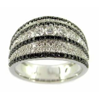 Kabella Luxe 18k White Gold 1 3/5ct TDW White and Black Diamond Ring (H-I, VS1-VS2)
