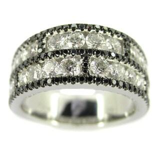 Kabella Luxe 18k White Gold 1 7/8ct TDW White and Black Diamond Ring (H-I, VS1-VS2)