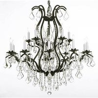 Gallery regent iron 12 light chandelier free shipping today gallery versailles wrought iron and crystal 15 light chandelier aloadofball Image collections