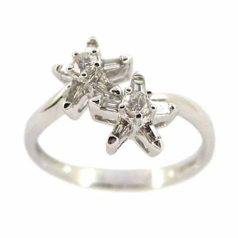 Kabella Luxe 18k White Gold Taper 1/3ct TDW Diamond Starfish Ring (G-H, SI1-SI2)