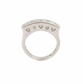 Kabella Luxe 18k White Matte Gold Diamond Heart Ring 1/3ct