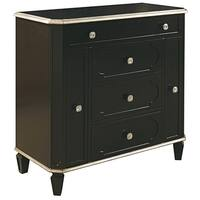 Hand Painted Distressed Black Finish Jewelry Chest
