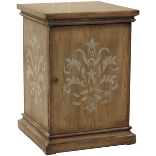 Hand Painted Distressed Honey Brown Finish Accent Chest