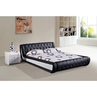 Shop Dorian 2 Piece White And Black Modern Bed Set