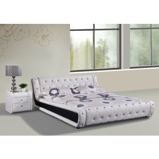 Dorian 2-piece White and Black Modern Bed Set