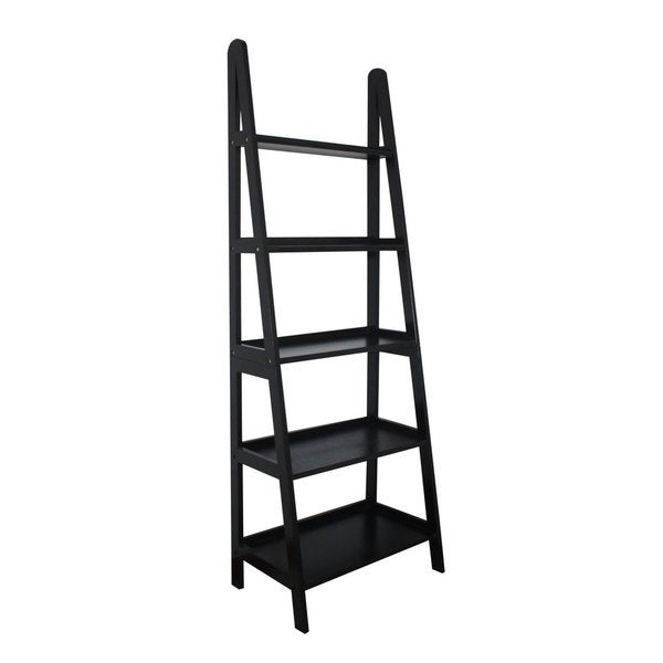 Mintra 5-tier A-frame Black Ladder Shelf