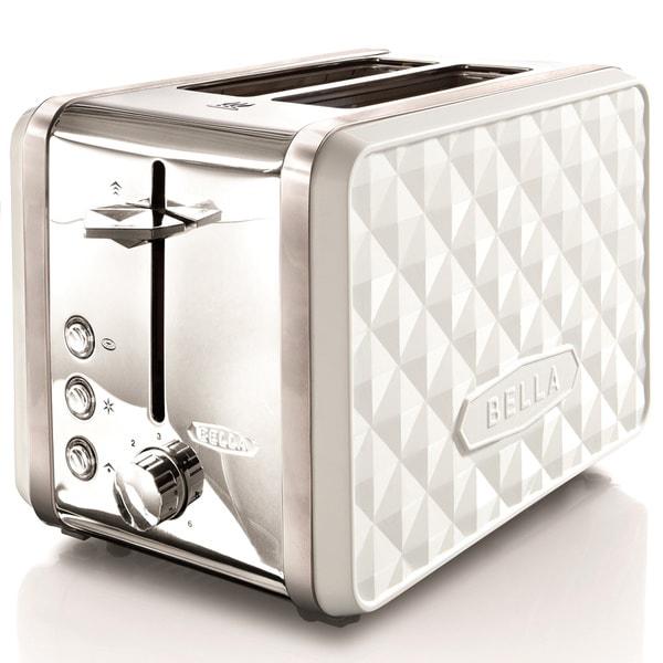 Bella Diamond White 2 Slice Toaster Free Shipping On
