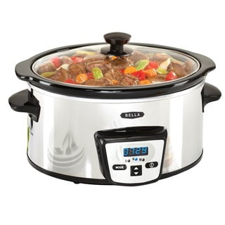 Shop Bella Stainless Steel 5 Quart Programmable Slow