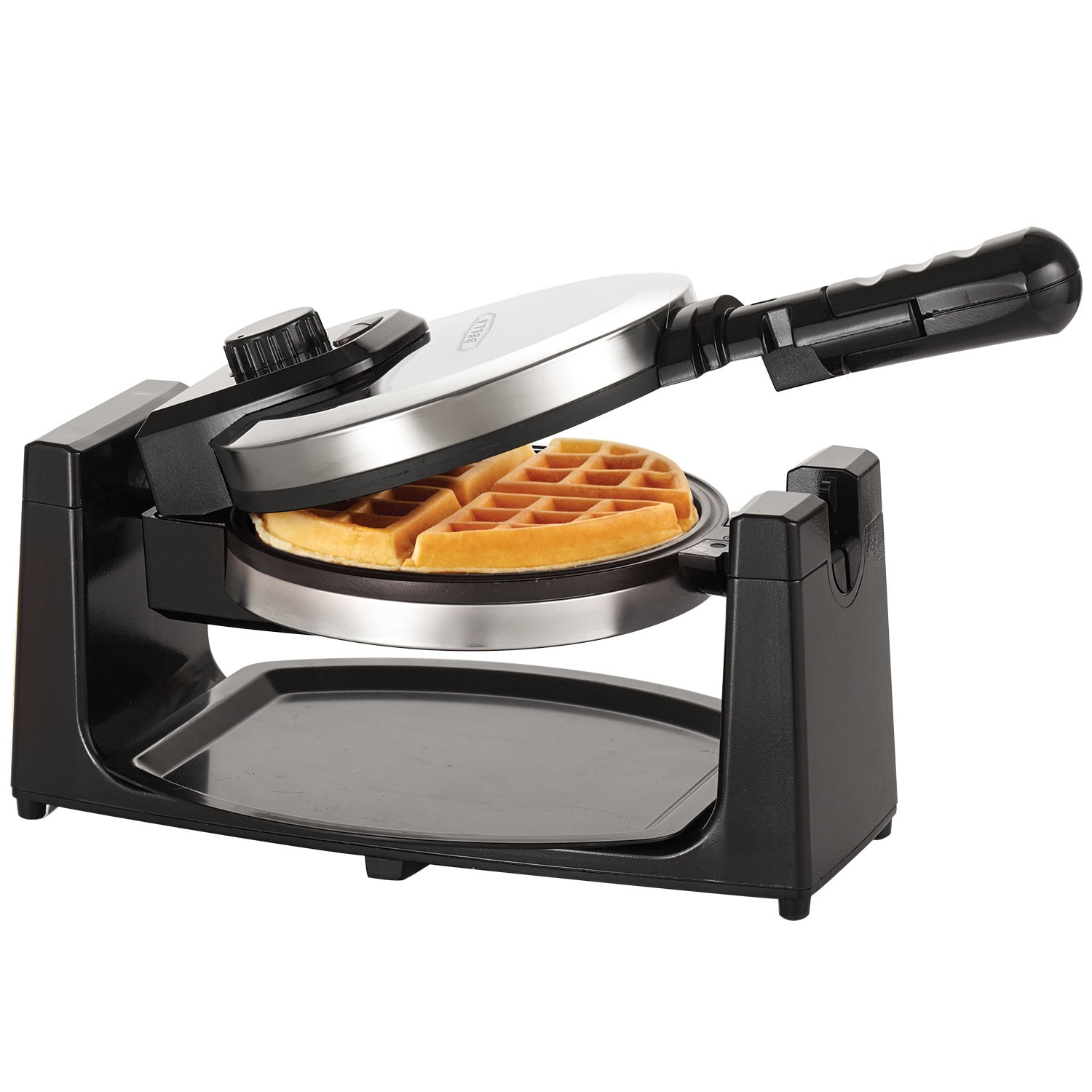 Bella Rotating Waffle Maker, Silver stainless steel (Metal)
