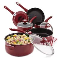 Farberware New Traditions Speckled Aluminum Nonstick 12-piece Cookware Set