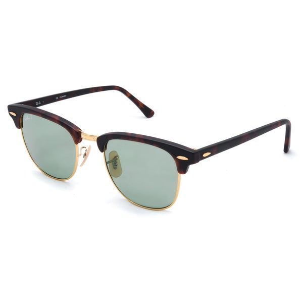 ray ban clubmaster polarized tortoise  Ray-Ban Clubmaster Polarized Sunglasses 51mm - Tortoise Frame ...