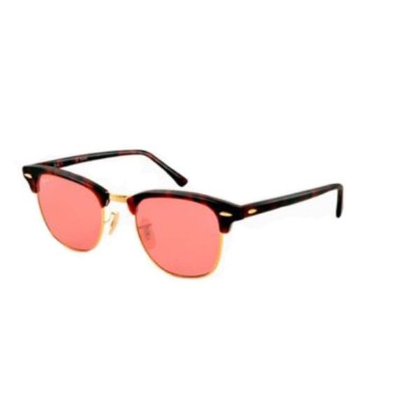 pink clubmaster sunglasses  Ray-Ban Clubmaster Polarized Sunglasses 49mm - Matte Tortoise ...