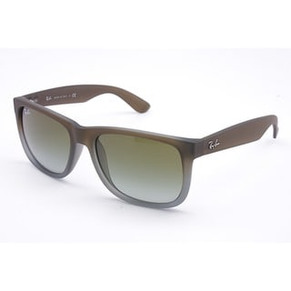 Ray-Ban Justin Wayfarer Sunglasses 51mm - Matte Dark Brown Gradient Frame/Green Gradient