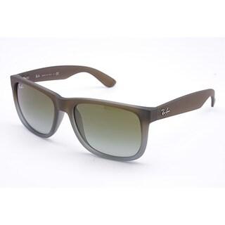 Ray-Ban Justin Wayfarer Sunglasses 51mm - Matte Dark Brown Gradient Frame/Green Gradient