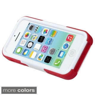 INSTEN Kickstand Soccer Player Goalkeeper Dual Hybrid Phone Case Cover for Apple iPhone 5C