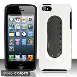 INSTEN With Tongue Kickstand TPU Rubber Skin Phone Case Cover for Apple iPhone 5/ 5S/ SE