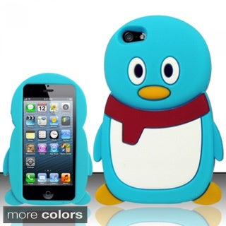 INSTEN 3D Penguin Cartoon Soft Silicone Skin Phone Case Cover for Apple iPhone 5/ 5S/ SE