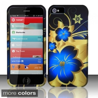 INSTEN Pattern Design Rubberized Hard Plastic Phone Case Cover for Apple iPhone 5/ 5S/ SE