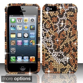INSTEN Bling Full Diamond Pattern Snap-on Hard Plastic Phone Case Cover for Apple iPhone 5/ 5S/ SE