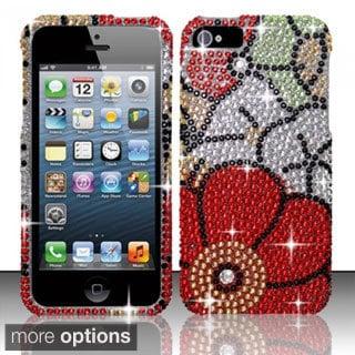 INSTEN Bling Full Diamond Pattern Snap-on Hard Plastic Phone Case Cover for Apple iPhone 5/ 5S/ SE