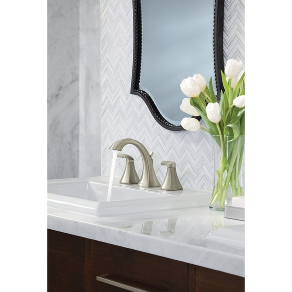 Shop Moen Voss Two Handle High Arc Bathroom Faucet Trim T6905bn
