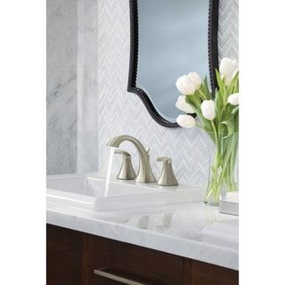 Moen Voss Brushed Nickel Two-handle High Arc Bathroom Faucet