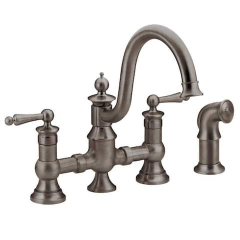 Moen Waterhill Oil Rubbed Bronze Two-handle High Arc Kitchen Faucet