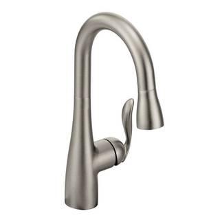 Moen Arbor Spot Resist Stainless One-Handle High Arc Pulldown Single Mount Bar Faucet