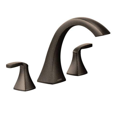 Moen Voss Two-Handle Roman Tub Faucet, Oil Rubbed Bronze (T693ORB)