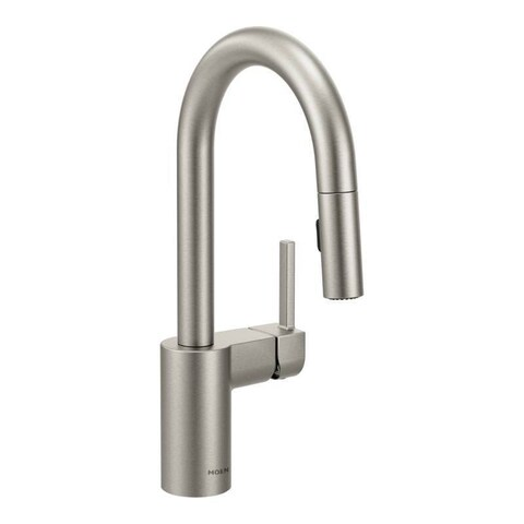 Moen Align Spot Resist Stainless One-handle High Arc Pulldown Bar Faucet