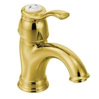 Moen Kingsley One-Handle Low Arc Bathroom Faucet 6102P Polished Brass