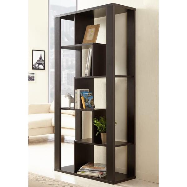 Furniture of America Noboru Open Walnut Bookshelf/Room Divider