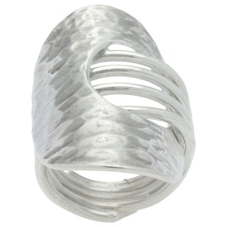 Kele & Co. Sterling Silver Hammered Ring