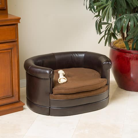 Doggerville Oval Cushy Dog Sofa by Christopher Knight Home