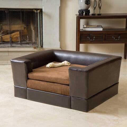 Doggerville Rectangular Cushy Dog Sofa by Christopher Knight Home